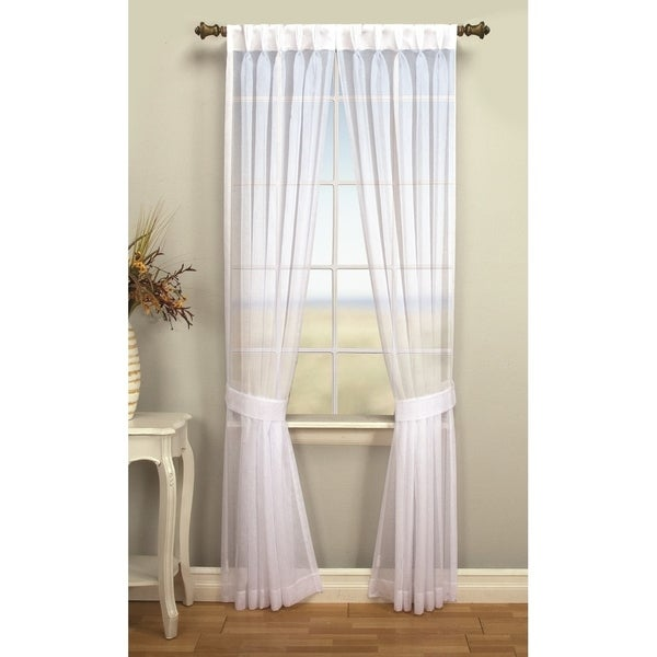 Palm Beach Pinch Pleated Top With Back Tabs Curtain Panel Pair