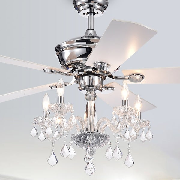 Chandelier Fans On Sale: Shop Havorand III 52-Inch 5-light Chrome Lighted Ceiling