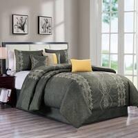 Parry embroidery 7 piece comforter set