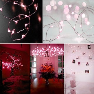 Solar Powered Warm White 20M 200LED Copper Wire Outdoor String Fairy Light