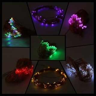 5M 50 LED String Lights Copper Wire With Remote Controller and Battery Box