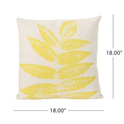 """Pinnate Leaves Outdoor 18"""" Water Resistant Square Pillows (Set of 2) by Christopher Knight Home"""