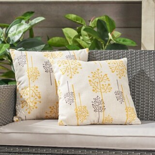 "Sagres Outdoor 18"" Water Resistant Square Pillows (Set of 2) by Christopher Knight Home"