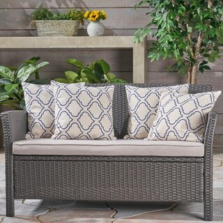 "Moher Outdoor 18"" Water Resistant Square Pillows (Set of 4) by Christopher Knight Home"