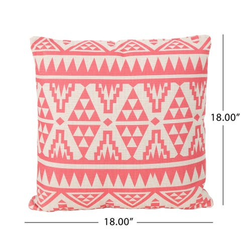 """Caroline Outdoor 18"""" Water Resistant Square Pillows (Set of 4) by Christopher Knight Home"""