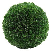 """Faux Preserved Artificial Boxwood Ball Topiary Plant 7.25""""H, Green"""