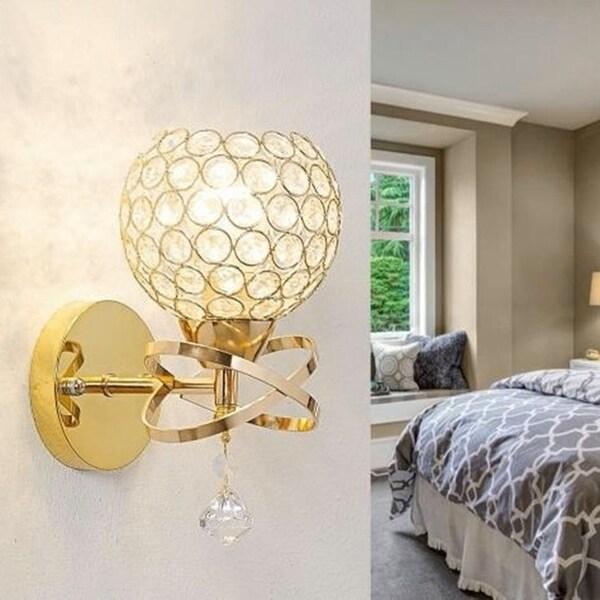 Led Crystal Wall Mount Lamp Bedroom Lights Home Decor Modern E27 Light