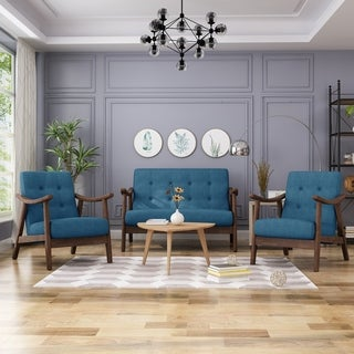 Link to Girouard Mid-Century Modern Chat Set by Christopher Knight Home Similar Items in Living Room Furniture Sets