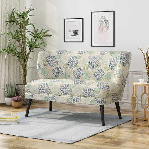 Desdemona Modern Farmhouse Fabric Settee by Christopher Knight Home