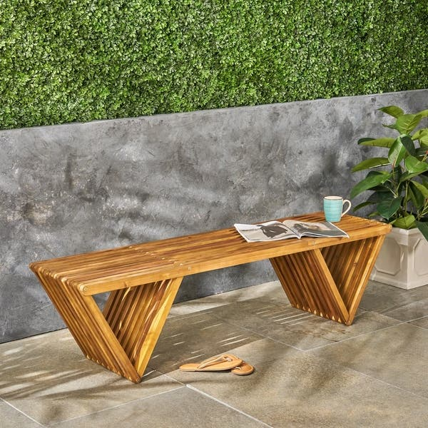 Incredible Shop Metropol Outdoor Acacia Wood Bench By Christopher Uwap Interior Chair Design Uwaporg