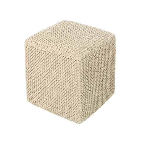Tessie Knitted Foot Stool by Christopher Knight Home