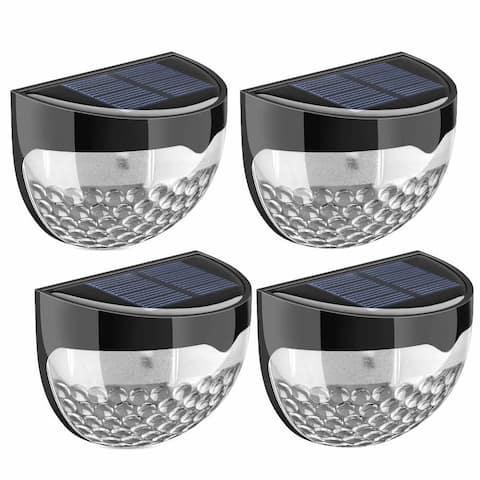 Solar Fence Lights, Decorative Lights 6 LED Garden Lights, Waterproof Wireless Outdoor Lights