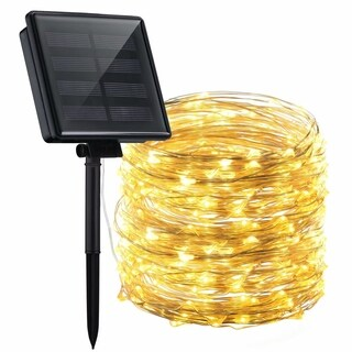 Mpow Solar Powered String Lights, 200 LED Copper Wire Lights, Starry String Lights