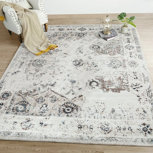 LNC Distressed 5'x7'Indoor Vintage Abstract Carpet Area Rugs