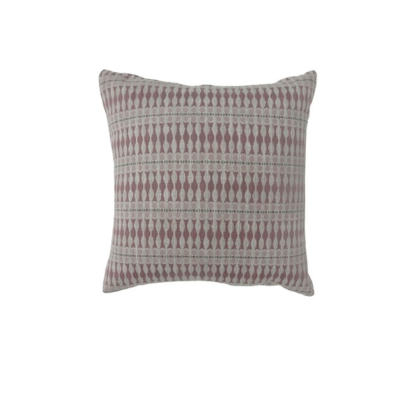 Contemporary Style Simple Traditionally Designed Set of 2 Throw Pillows, Red