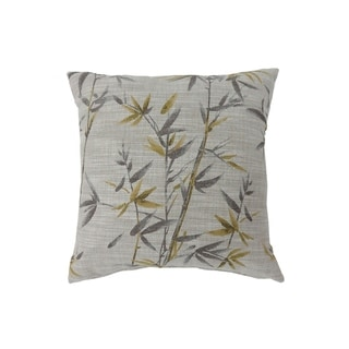 Contemporary Style Set of 2 Throw Pillows, Yellow