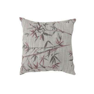Contemporary Style Set of 2 Throw Pillows, Red