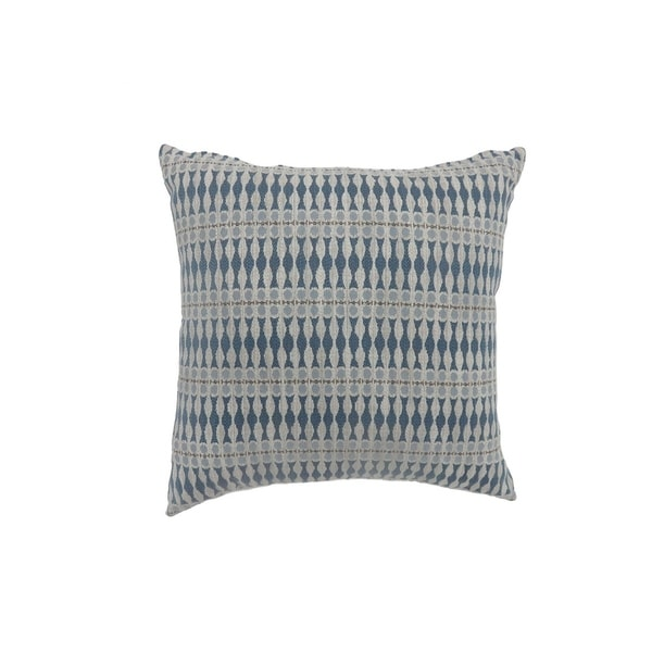Contemporary Style Simple Traditionally Designed Set Of 2 Throw Pillows Blue