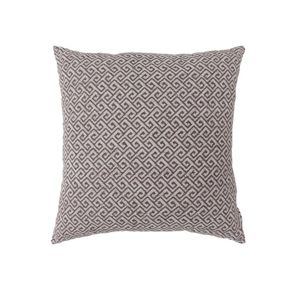 Contemporary Style Small Diagonal Patterned Set of 2 Throw Pillows, Brown