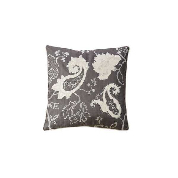Contemporary Style Set of 2 Throw Pillows With Paisley and Floral Designing