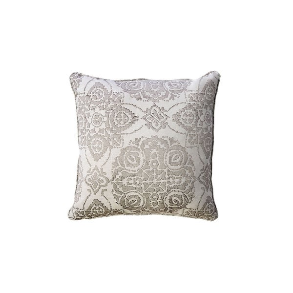 Contemporary Style Set of 2 Throw Pillows With Intricate Medallion Patterns