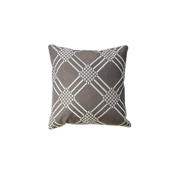 Contemporary Style Set of 2 Throw Pillows With Diamond Patterns, Gun Metal Gray