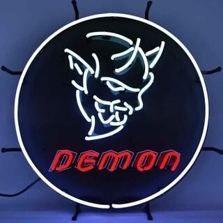 Neonetics Indoor Hand Blown Dodge Demon Neon Sign with Backing