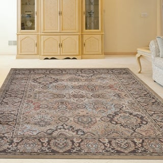 Admire Home Living Gallina Beige/Multicolor Panel Area Rug - 5'7 x 7'11