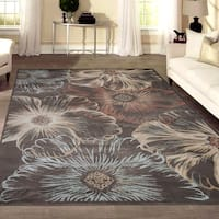 Admire Home Living Gallina Floral Brown/Multicolor Panel Area Rug (7'9 x 11')