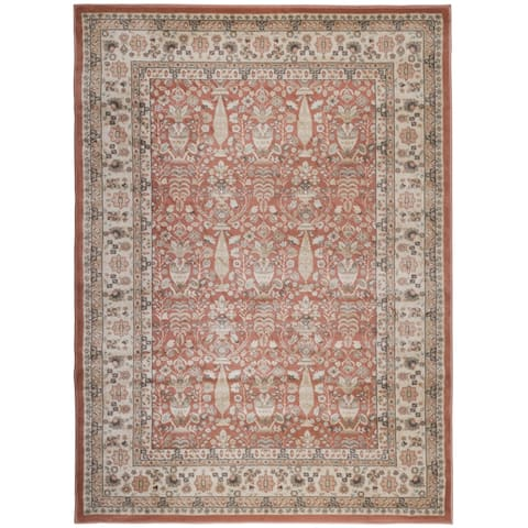 "Gallina Panel Brown Area Rug - 2'2"" x 7'7""/Surplus"