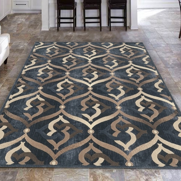 Admire Home Living Isabel Modern Contemporary Geometric Pattern Area Rug. Opens flyout.