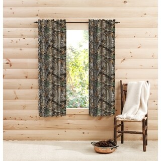 "Rustic Decor Realtree Edge Camo Curtain Panel Pair - 40"" W x 63"" L"