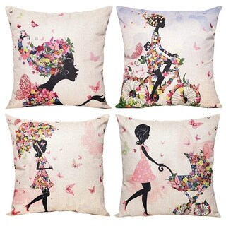 Pillow Covers Decorative Pillowcases 18x18inch Home Car Decorative