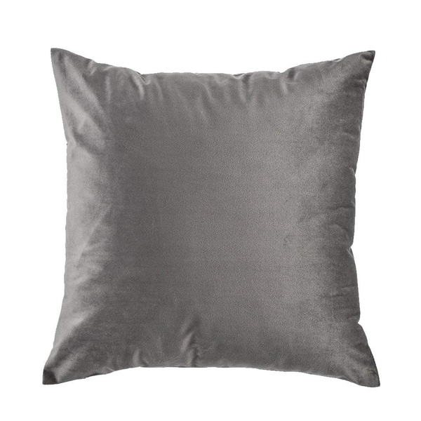 """Velvet Pillow Case Couch Cushion Cover Soft Sofa,18""""x18"""" (Grey)"""