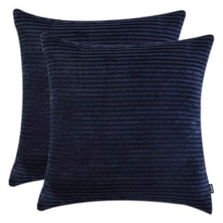 "Pillow Cases for Couch Sofa Soft Cushion Covers, (Navy Blue, 18""x18"")"