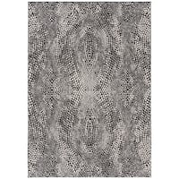 Safavieh Lurex Modern & Contemporary Abstract Black / Light Grey Polyester Rug - 9' x 12'
