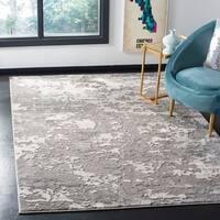Safavieh Lurex Modern & Contemporary Abstract Grey / Light Grey Polyester Rug - 9' x 12'