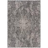 Safavieh Lurex Modern & Contemporary Abstract Black / Light Grey Polyester Rug - 8' x 10'