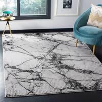 Safavieh Lurex Modern & Contemporary Abstract Grey / Black Polyester Rug - 9' x 12'