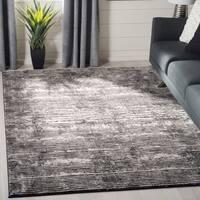 Safavieh Lurex Modern & Contemporary Abstract Black / Grey Polyester Rug - 9' x 12'