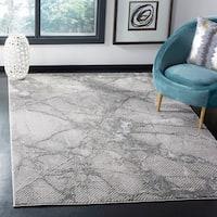 Safavieh Lurex Modern & Contemporary Abstract Grey / Grey Polyester Rug - 8' x 10'