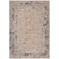 Safavieh Meadow Contemporary Abstract Taupe / Grey Polyester Rug - 9' x 12'