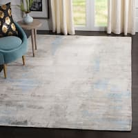 Safavieh Mirage Contemporary Geometric Blue Viscose Rug - 6' x 9'