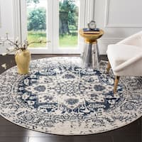 Safavieh Madison Vintage Snowflake Medallion Cream/ Navy Rug - 11' Round