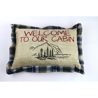 Realtree Welcome To Our Cabin Dec Pillow