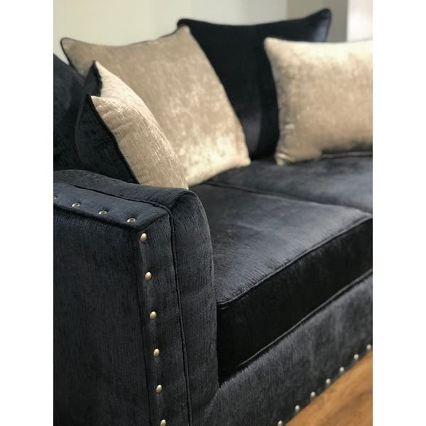 Groovy Shop Ikat Grand Blue Velvet Sofa With Nail Head Accent Ibusinesslaw Wood Chair Design Ideas Ibusinesslaworg