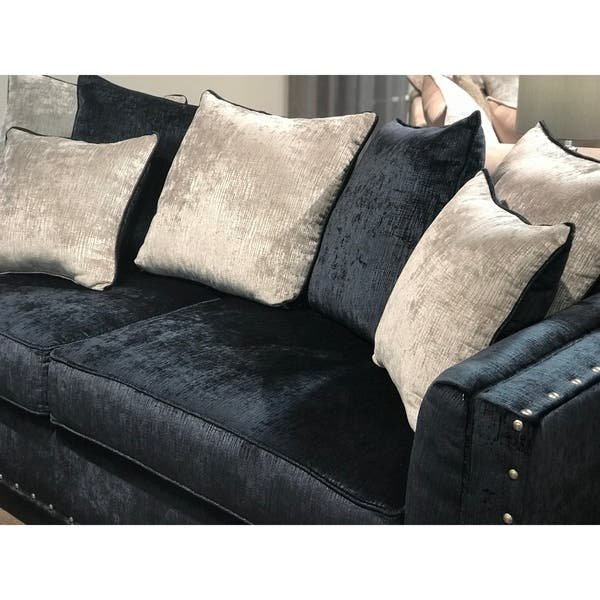 Peachy Shop Ikat Grand Blue Velvet Sofa With Nail Head Accent Ibusinesslaw Wood Chair Design Ideas Ibusinesslaworg