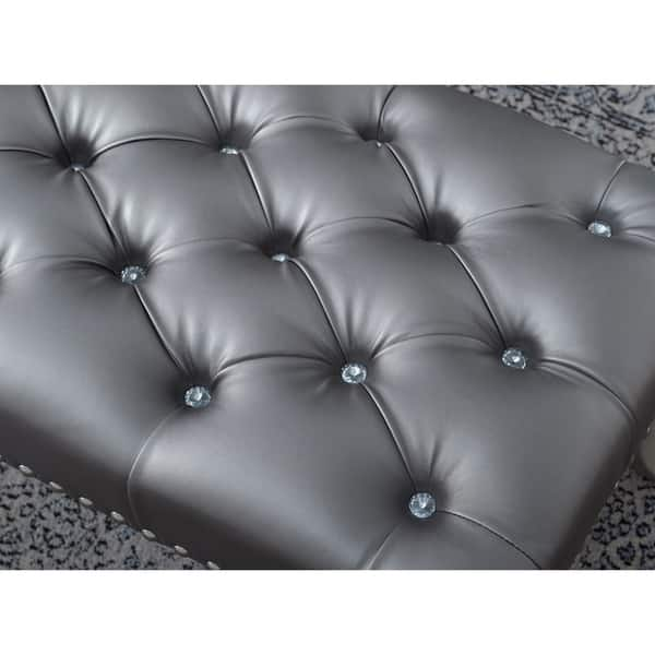 Strange Shop Decor Maxem Tufted Faux Leather Upholstered Seat With Gamerscity Chair Design For Home Gamerscityorg