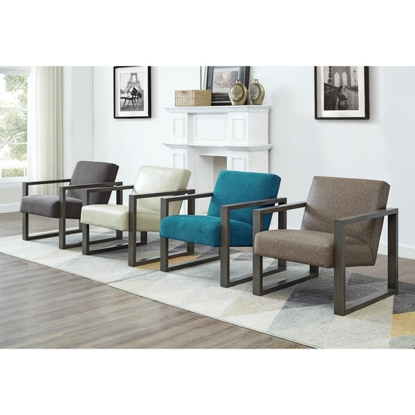 Shop Luv Square Arm Fabric Upholstered Seat Accent Chair