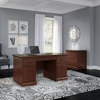 Bush Birmingham 60W Executive Desk with Lateral File